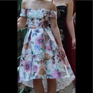 High Low ASOS Floral Prom Dress